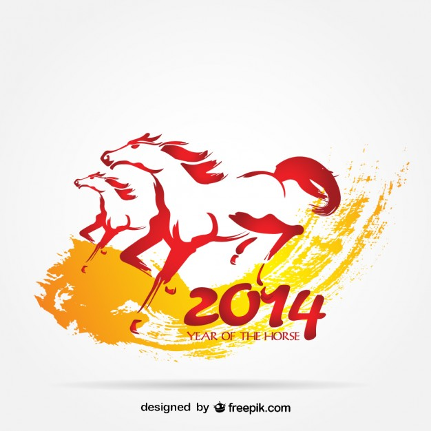 Vector Animal Designs: Running Horses