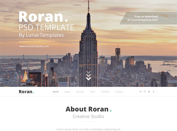 Roran Free Website Template Psd 1