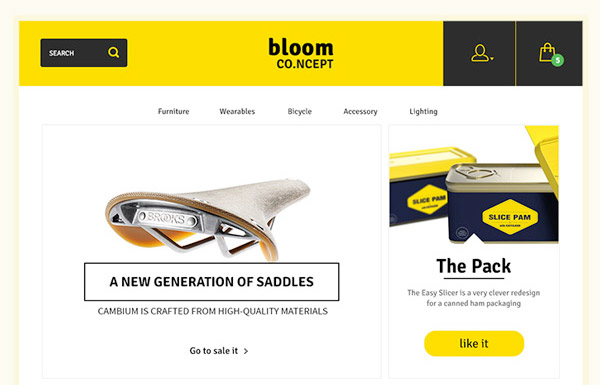 Bloom Ecommerce Template Psd Product split