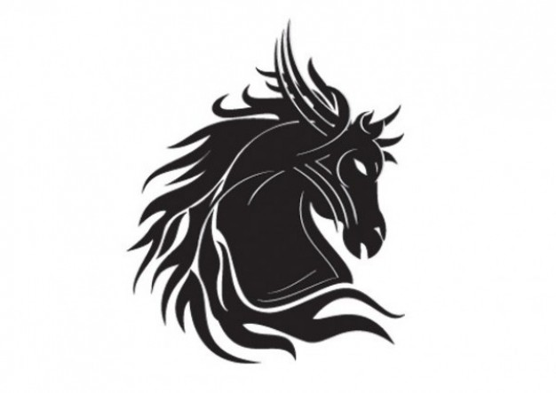 Vector Animal Designs: Tribal Horse