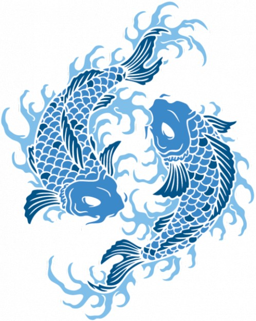 Vector Animal Designs: Koi Fish