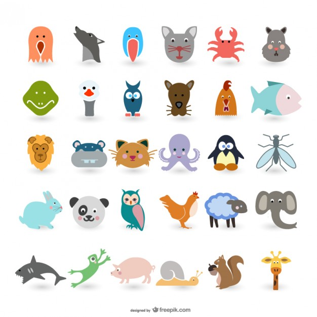 30 Free Simple Animal Vectors