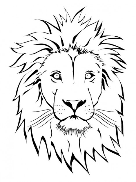 Vector Animal Designs: Lion Face