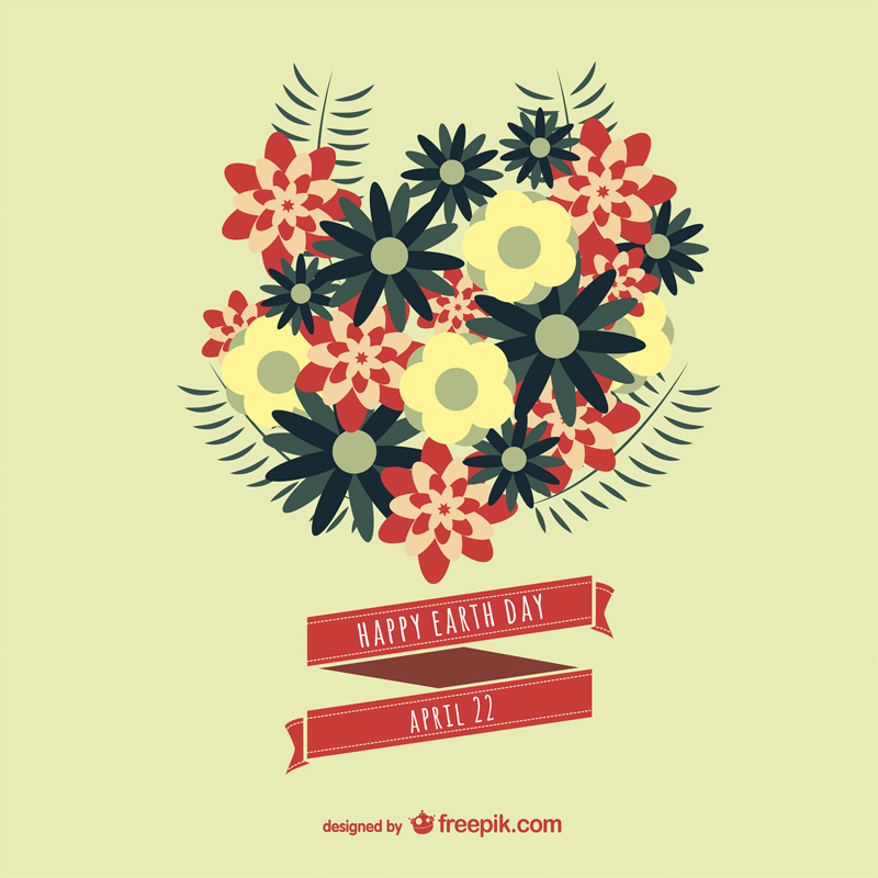 Free Earth Day Vector Designs floral