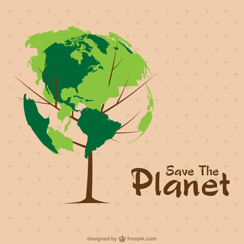 Free Earth Day Vector Designs tree