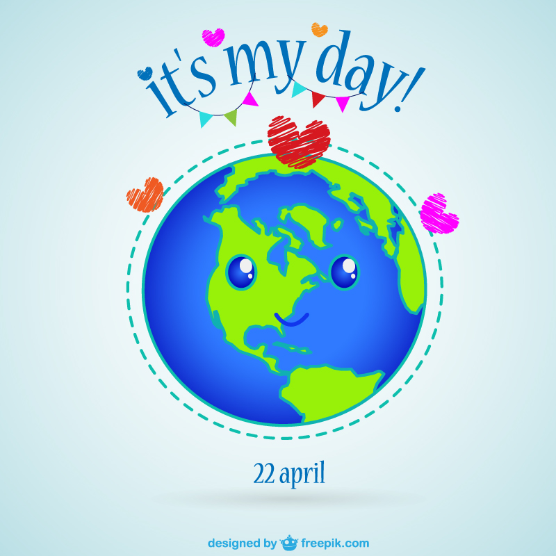 Free Earth Day Vector Designs face
