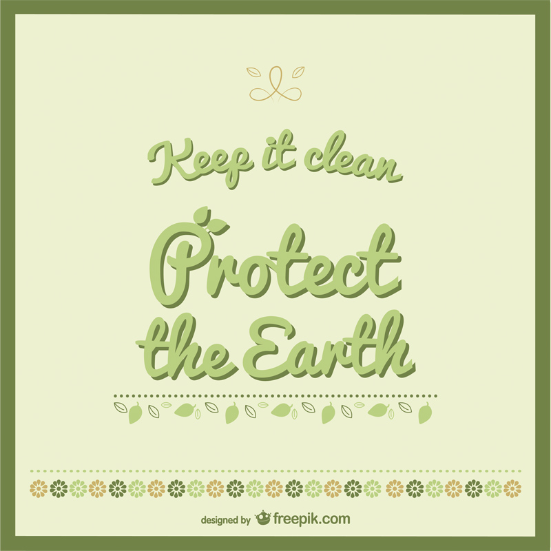 Free Earth Day Vector Designs Text