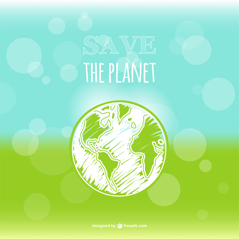 Free Earth Day Vector Designs bubbles