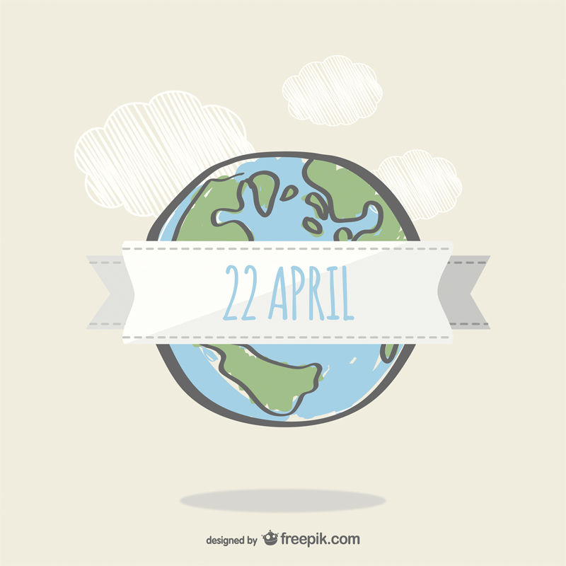 Free Earth Day Vector Designs hand drawn