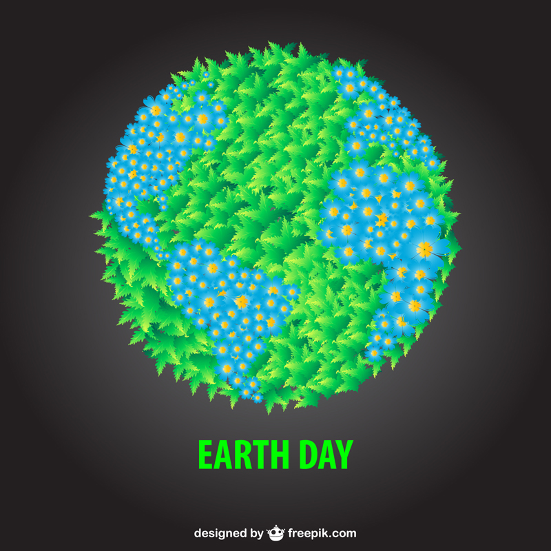 Free Earth Day Vector Designs shape filled
