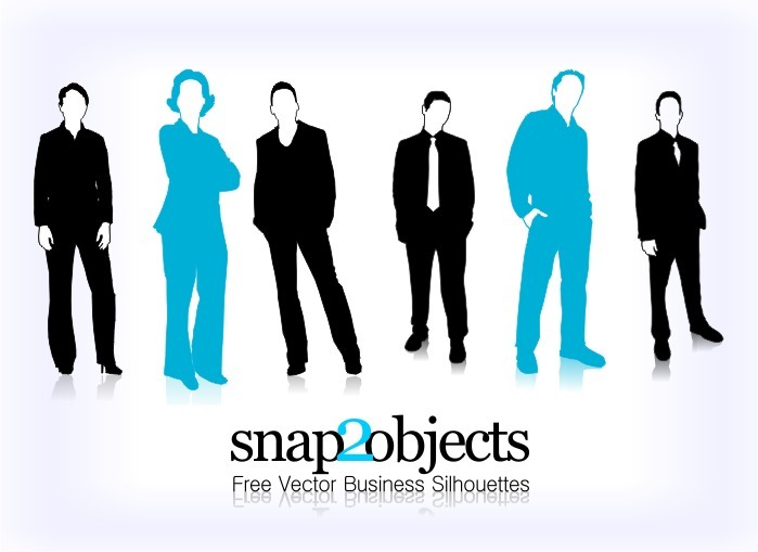 business vector silhouettes