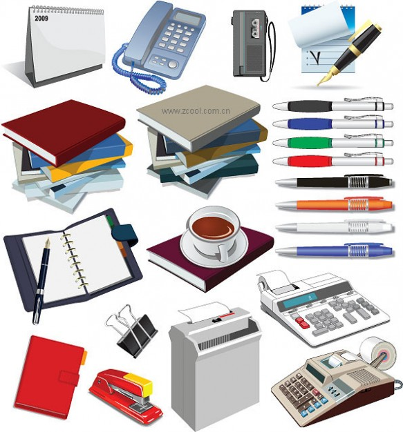 Business vector: office-supplies-