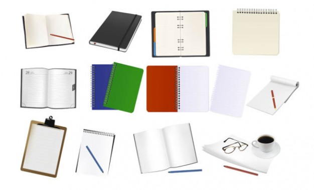 Business vectors - office-supplies-02notebooks