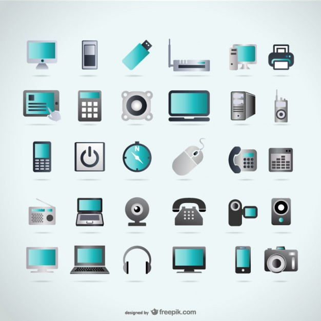 vector devices technology icons shapes device icon freepik vectors collection tech usb telephone business ai pendrive radio graphic desktop snakes