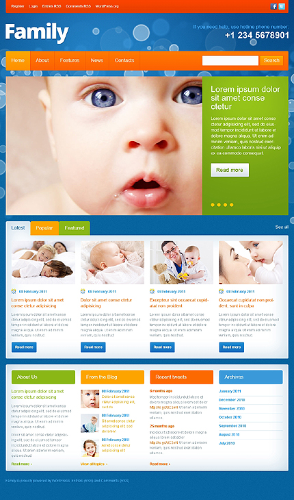 Family Center WordPress Theme