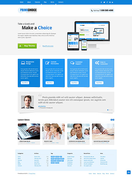 Mild Web Design WordPress Theme
