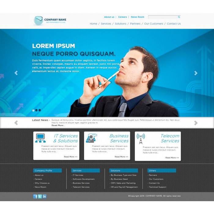 Free Bootstrap Corporate Theme:  Home