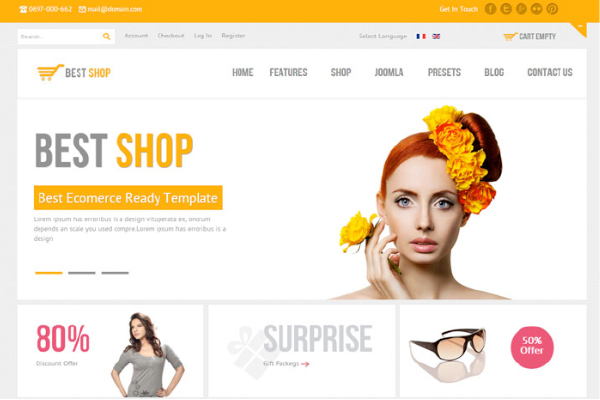 Bestshop: Responsive WordPress E-Commerce Themes