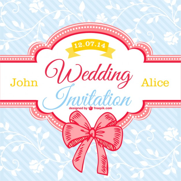 7 free vector wedding designs creative beacon vector wedding designs ribbon junglespirit Image collections