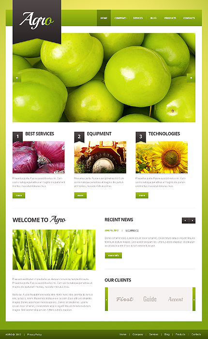 Agriculture Template WordPress Theme