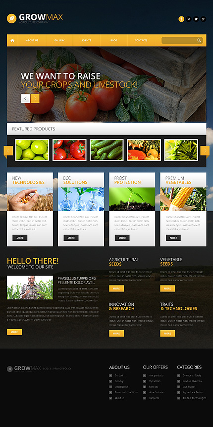 Farm Industry WordPress Theme