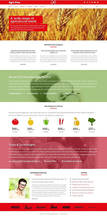 Farm Responsive WordPress Theme