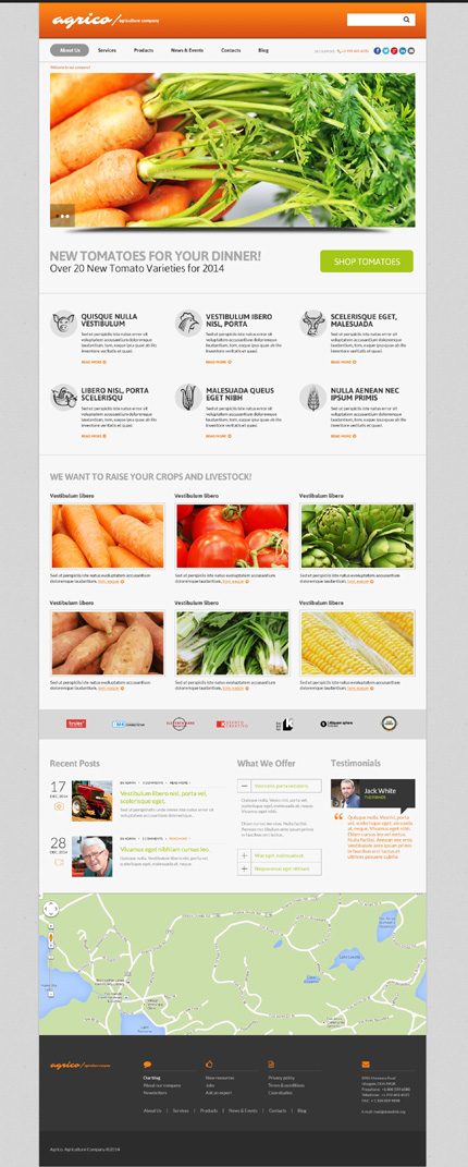 Planting Harvesting Board WordPress Theme