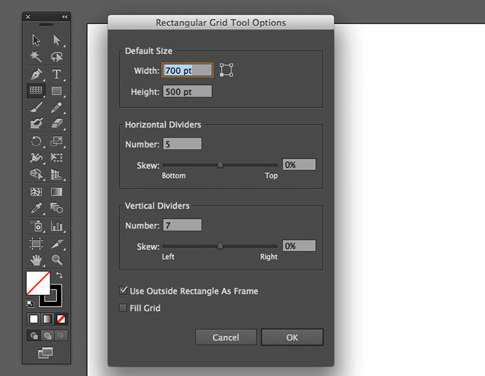 make easy grids in illustrator