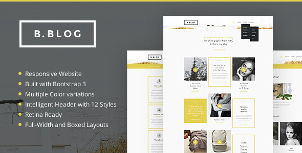 B - Blog - A Professional Blog html website templates