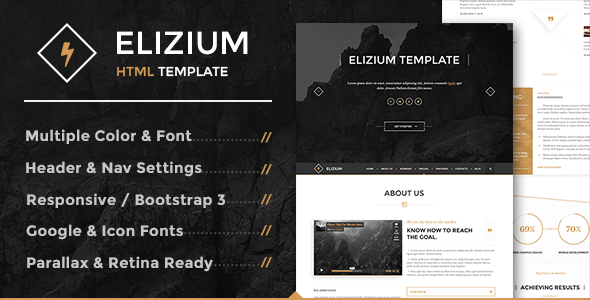 Elizium - html website templates