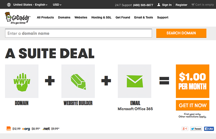 Godaddy: A web hosting Provider (If you call it that)