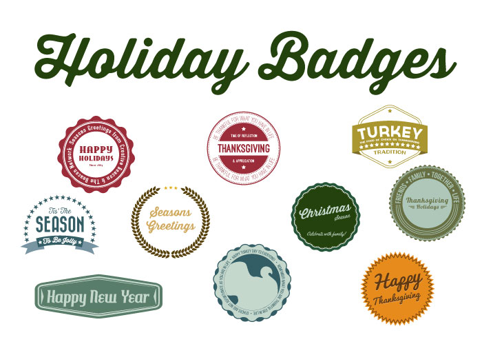Holiday Season Badges