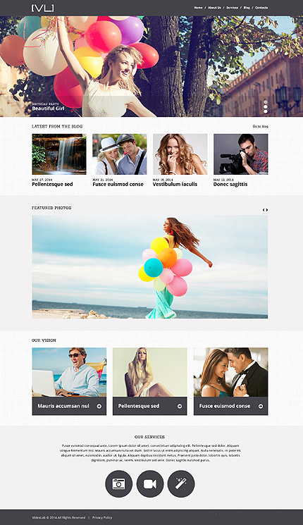 Happy Moments Videography WordPress Theme