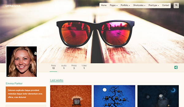 Little Soul blog theme