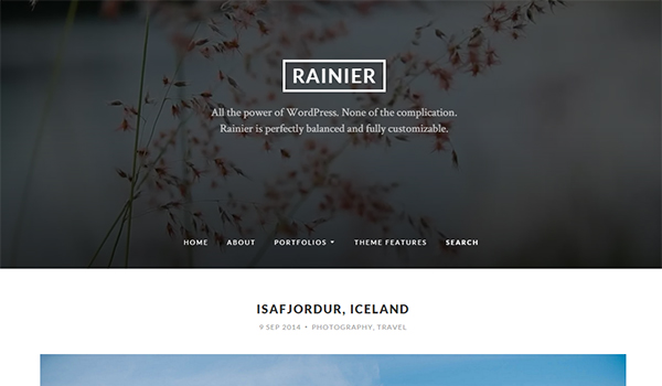 Rainier blog theme