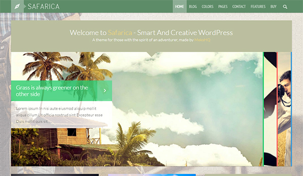 Safarica blog theme