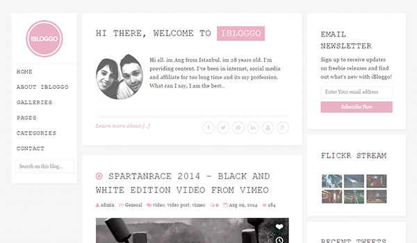 iBloggo blog theme