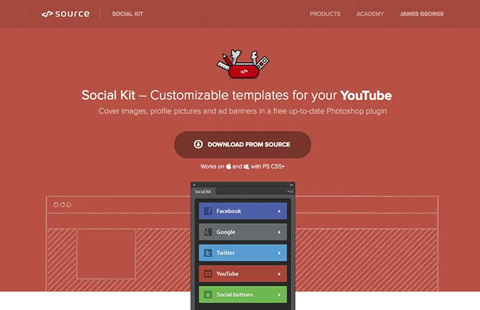 Social kit Photoshop Extension
