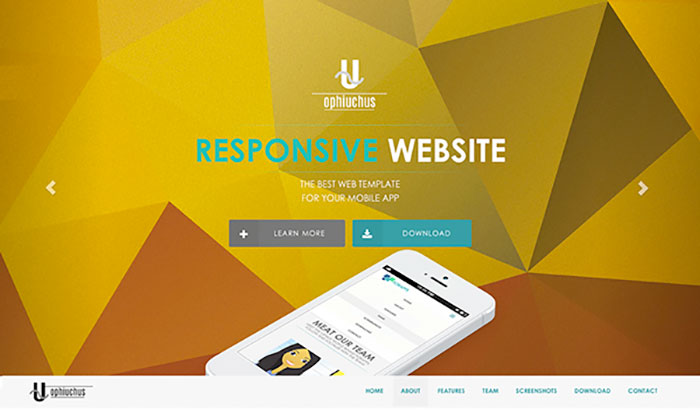 Ophiuchus Free Website Template