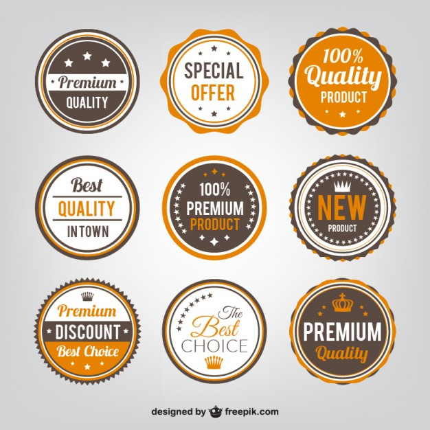 quality-badges-collection - vintage vector badges