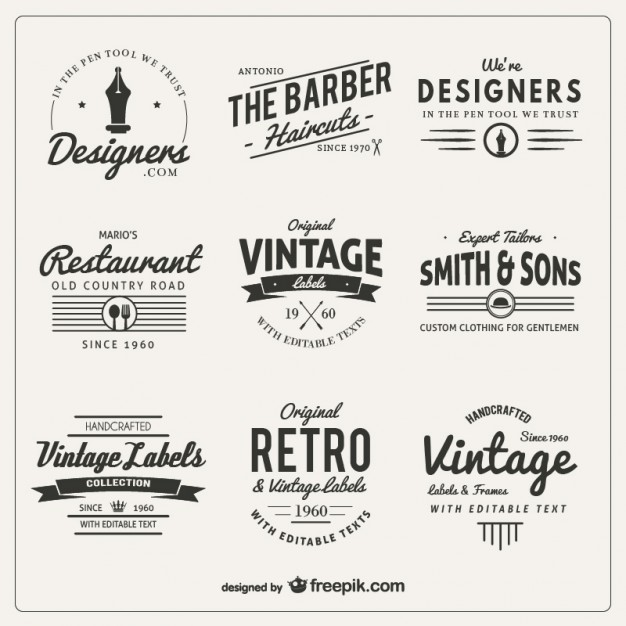 variety-of-badges-in-retro-style