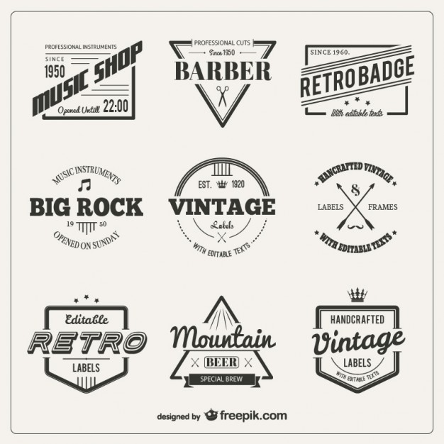 variety-of-vintage-badges