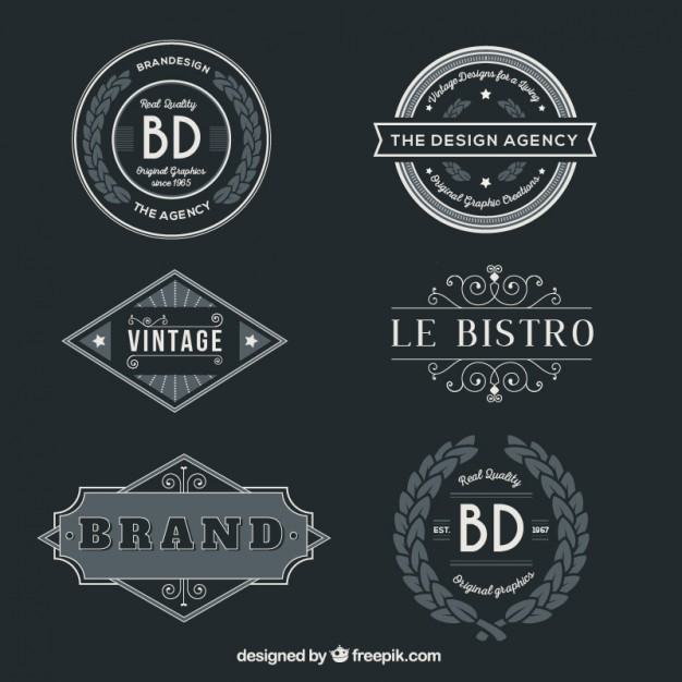 vintage-badges-pack - vintage vector badges