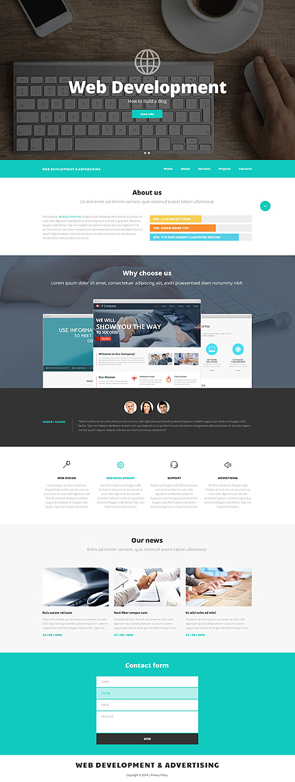 Web Development and Advertising Website Template