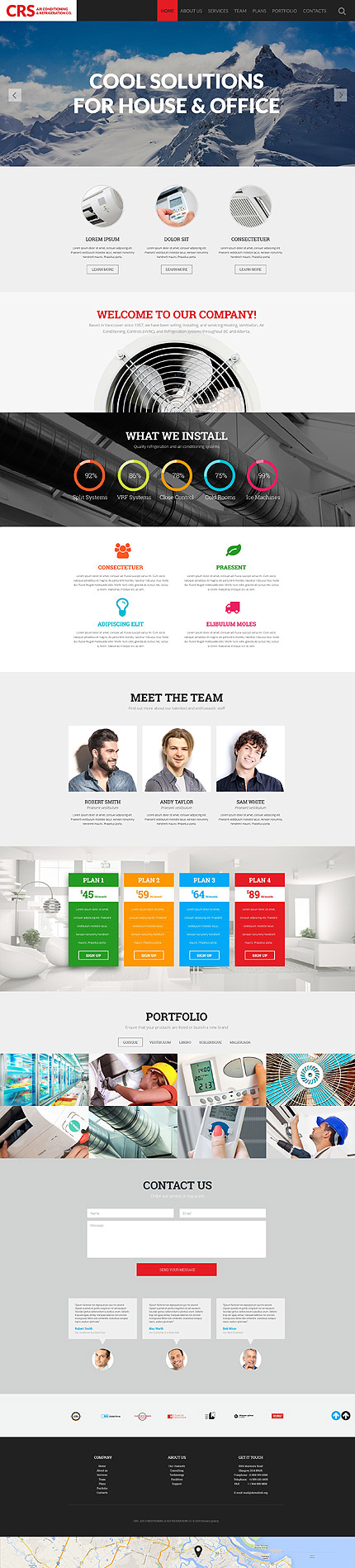 Air Conditioning Manufacturer Website Template