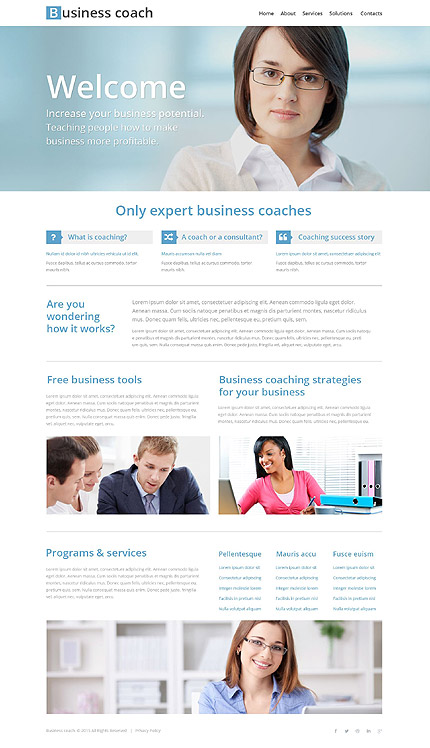 Business School Site Template