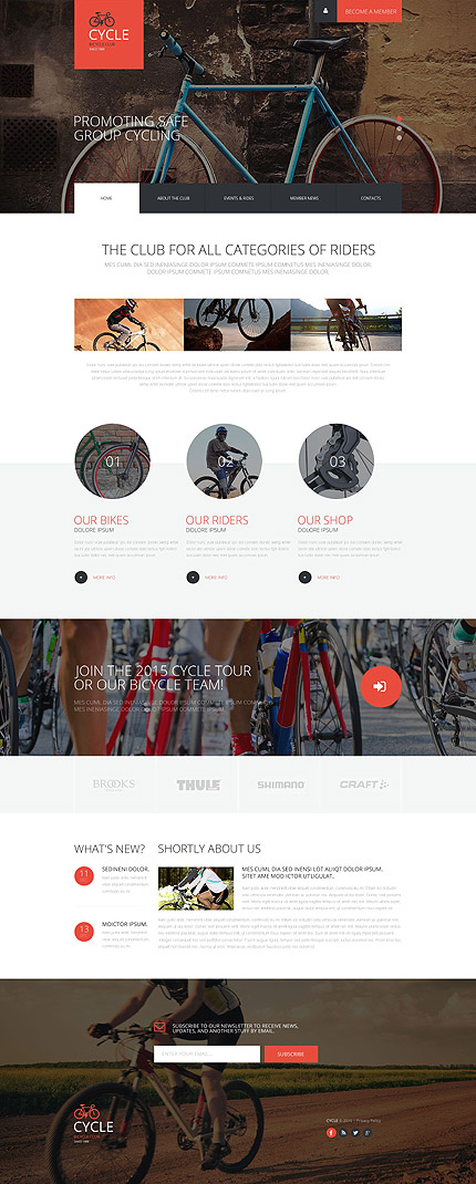 Cycling Web Template