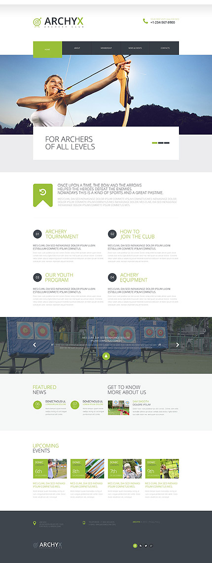 Archery Web Template