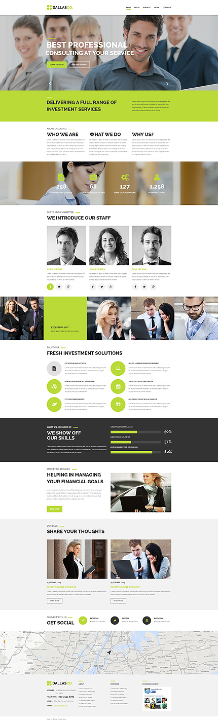 Business Center Web Template
