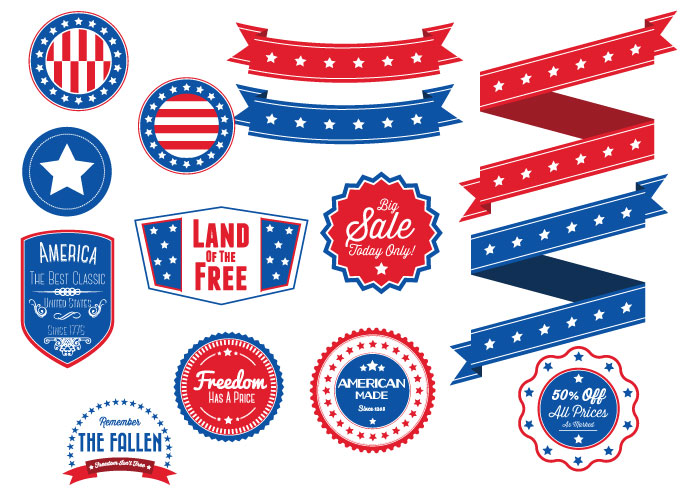America Vector graphics collection